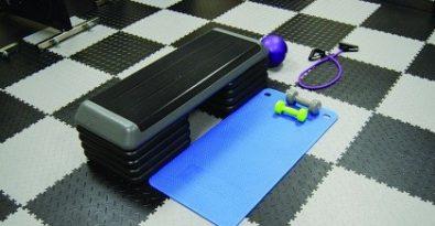 Flexi-Tile als Fitness PVC Boden