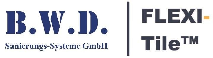 Logo B.W.D. Sanierungs-Systeme GmbH mit Flexi-Tile