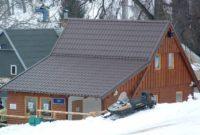 Metall Dachpfannenprofil mit langem Schleppdach