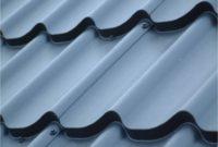 Metall-Dachpfannenprofile Nahaufnahme