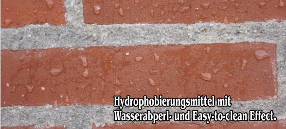 Hydrophobierungsmittel mit Wasserabperl Effekt und Easy-to-Clean Effekt
