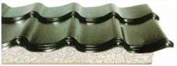 isolierte Metall-Dachpfannenprofil Platten
