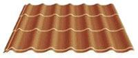 Metall-Dachpfannenprofile ohne Isolierung