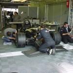 Tecto-San Classic Kunststoff Fliese als Garagenboden im Motorsport