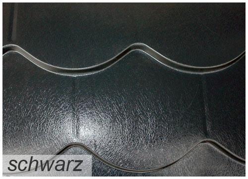 Biberschwanz Profilblech in Schwarz