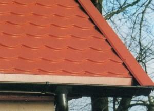 Dachprofile aus Metall - hier Metall-Biberschwanzsprofile