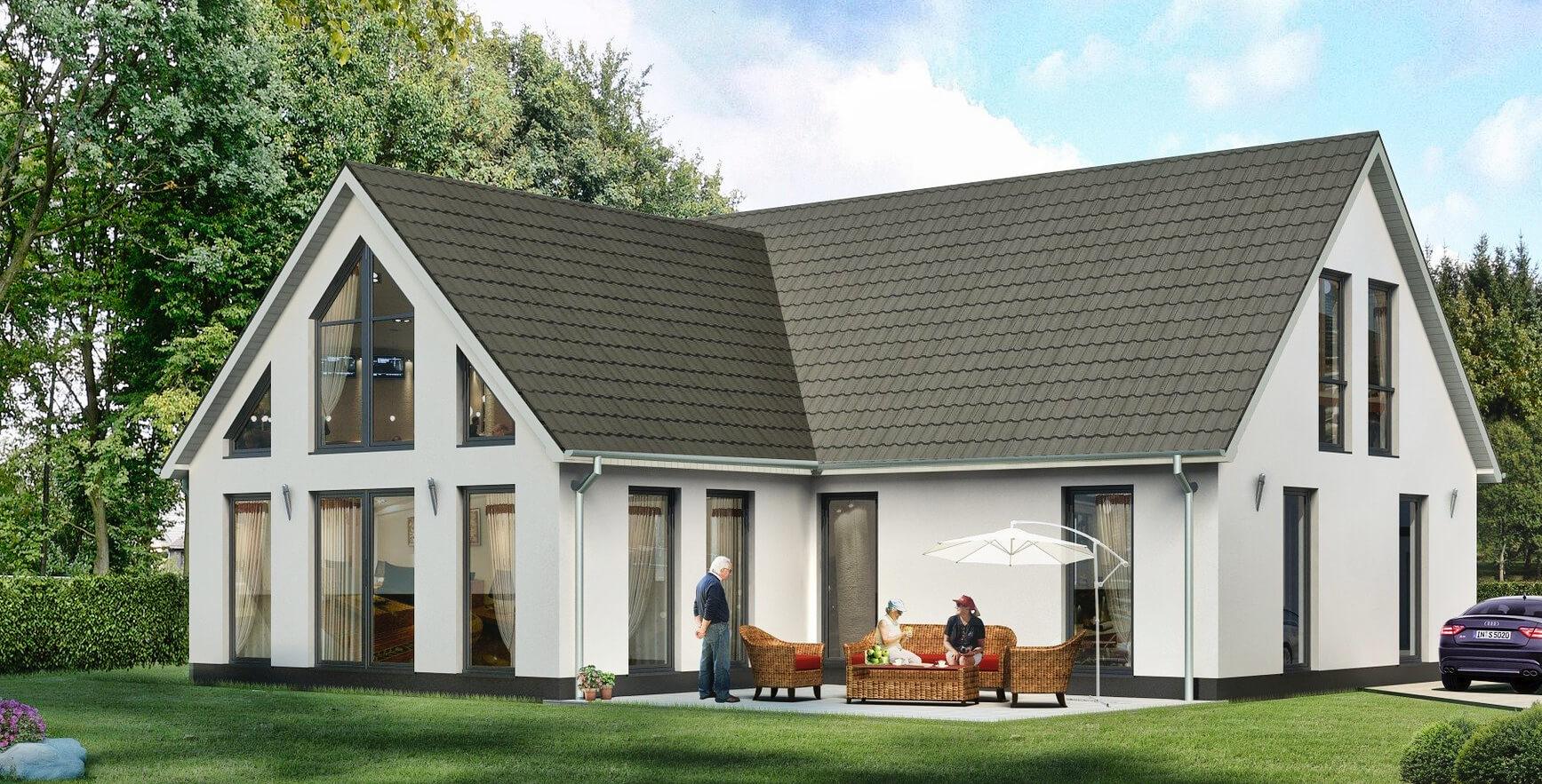 Durch eine Imprägnierung lassen sich auch Hausfassaden effektiv vor Schmutz und Flechen schützen (Foto: Pixabay).