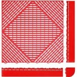 Tecto-San Classic Kunststoff-Bodenplatten - Gitterrost-Optik