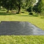Evo-Floor Anwendungsbeispiel auf Rasen